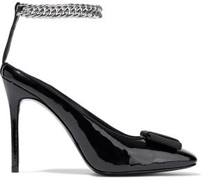 Alexander Wang Tiri Chain-Embellished Patent-Leather Pumps