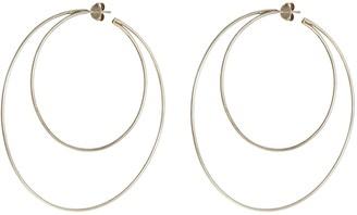 Lynn Ban 'Crescent Hoops' silver earrings
