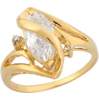 Marquis Jewellery Liquidation Canada 14k Yellow Gold 2.02ct CZ Solitaire Gorgeous Engagement Ring