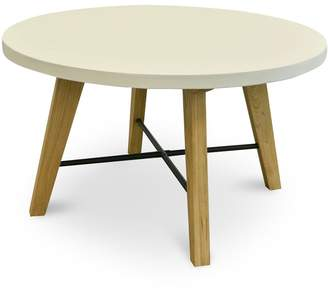 Wilson Calibre Furniture Round Concrete Dining Table White