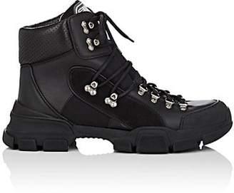 Gucci Men's Leather & Canvas Trekking Boots - Black
