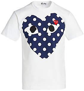 Comme des Garcons Men's Polka Dot Logo T-Shirt