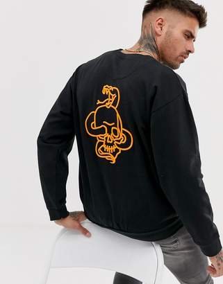 Bolongaro Trevor neon embroidered sweatshirt