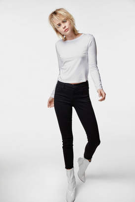 Alana High-Rise Cropped Super Skinny In Photo Ready Black Bastille