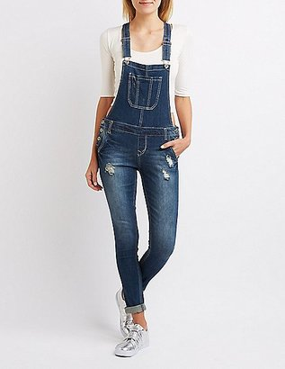 Distressed Denim Overalls $38.99 thestylecure.com