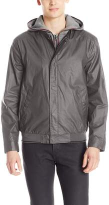 Kenneth Cole New York Men's Baseball Jacket removable hood