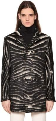 John Varvatos Zebra Effect Blend Coat