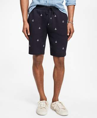 Brooks Brothers Anchor-Embroidered French Terry Shorts