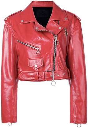 Drome cropped biker jacket