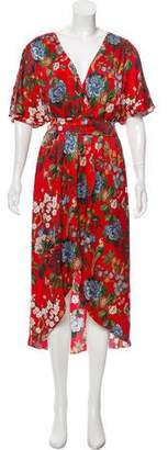 Alice + Olivia Silk Printed Midi Dress