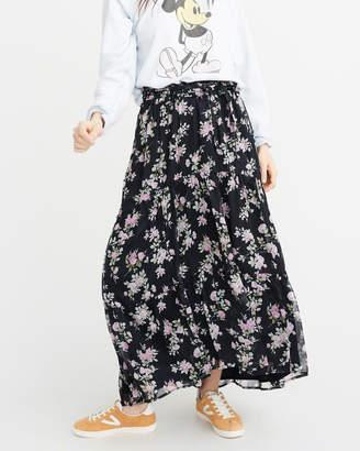 Abercrombie & Fitch Tiered Chiffon Maxi Skirt