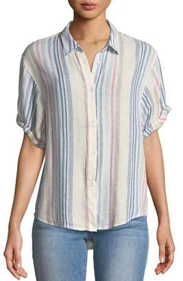 Splendid Arco Iris Striped Button-Front Shirt