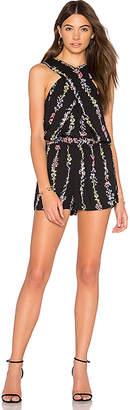 BCBGMAXAZRIA Isla Romper in Black $198 thestylecure.com
