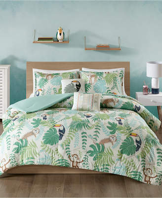 Urban Habitat Kids Tropical Tangle 5-Pc. Full/Queen Cotton Comforter Set Bedding