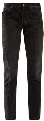 Balenciaga Twisted Straight Leg Jeans - Womens - Black
