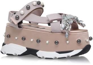 No.21 No. 21 Embellished Runway Flatform Sandals