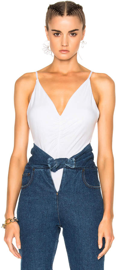 Alexander Wang T by Alexander Wang Micro Modal Spandex Shirred Front Camisole