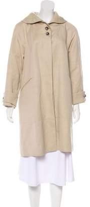 Bottega Veneta Leather-Trimmed Knee-Length Coat