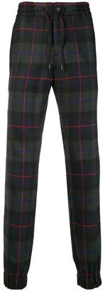 Etro tartan pattern loose fit trousers