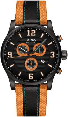 MIDO Multifort University of Miami Chronograph Nylon Strap Watch, 42mm