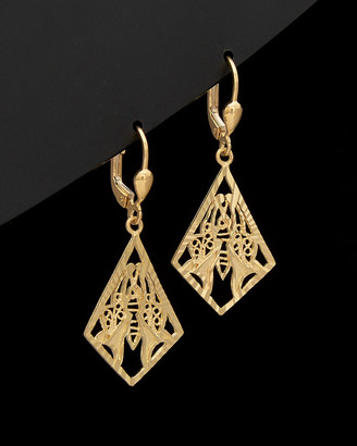 Italian Gold 14K Filigree Chandelier Earrings