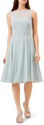 Hobbs London Ashling Pleated A-Line Dress