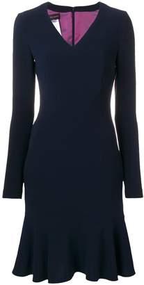 Talbot Runhof peplum dress
