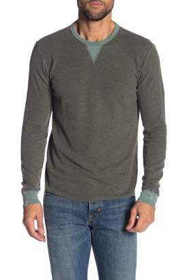 Lucky Brand Colorblock Burnout Thermal Crew Neck Sweater