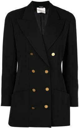 Chanel PRE-OWNED long sleeve jacket black