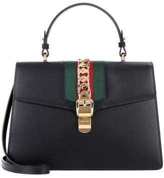 Gucci Sylvie embellished leather tote