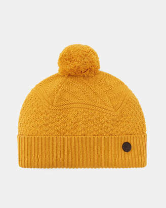 Ted Baker MULTHAT Multi stitch cashmere hat