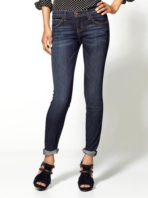 Current/Elliott Rolled Ankle Skinny Jeans