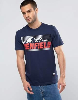 Penfield Sportswear Logo T-Shirt Regular Fit in Navy
