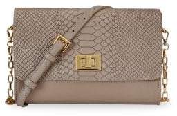 GiGi New York Catherine Embossed Python Clutch Crossbody Bag