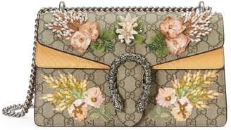 Gucci Small Dionysus Embellished GG Supreme & Genuine Python Shoulder Bag