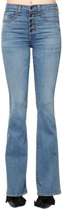 Veronica Beard Beverky Flared Cotton Denim Jeans