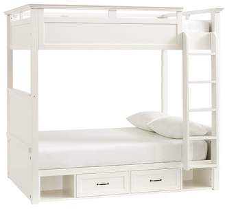 Pottery Barn Teen Hton Bunk Bed, Full, Simply White