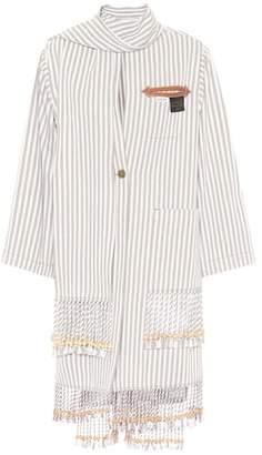 Loewe x Paula's Ibiza embellished cotton-blend coat