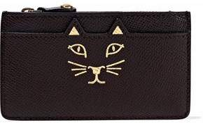 Charlotte Olympia Feline Metallic Printed Textured-Leather Coin Purse