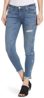 Lovers + Friends Ricky Distressed Skinny Star Print Jeans