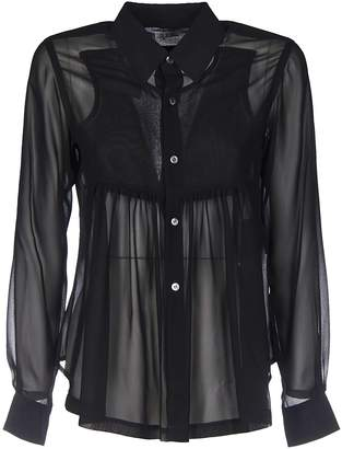 Comme des Garcons See-through Pleated Shirt