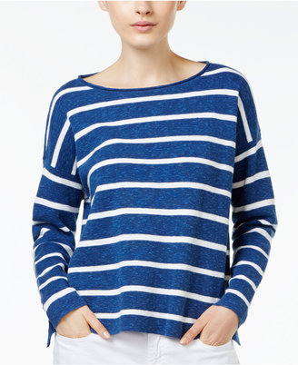 Eileen Fisher Organic Linen-Blend Boxy Top $178 thestylecure.com