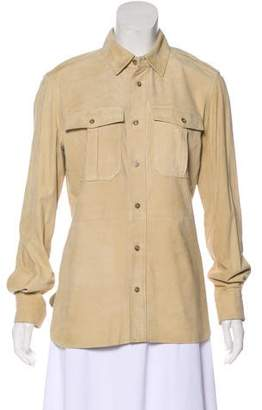 Ralph Lauren Suede Button-Up Top w/ Tags