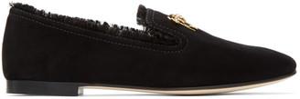 Giuseppe Zanotti Black Suede Fringe Dalila Loafers $695 thestylecure.com