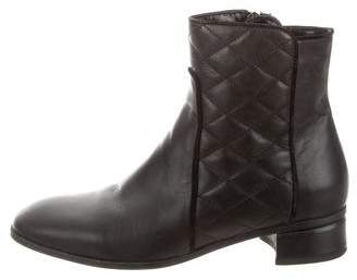 Aquatalia Quilted Ankle Boots