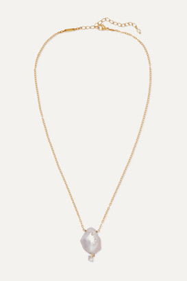 Chan Luu Gold-plated, Pearl And Crystal Necklace - White
