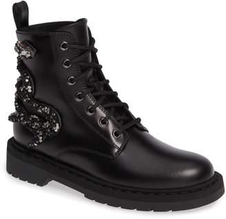 Valentino Snake Combat Boot