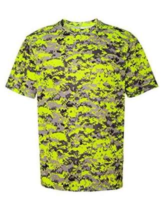 Badger Sportswear 4180 Badger Men's Short Sleeve Sublimated Camo Tee - Safety Yellow Digital - XX-Large