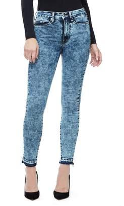Ga Sale Good Waist Crop Acid Wash Jeans