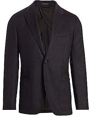 Ermenegildo Zegna Men's Soft Check Wool-Angora Jacket